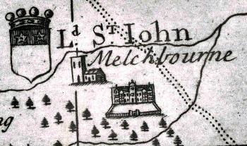 Melchbourne House on a map of [MC2/8]
